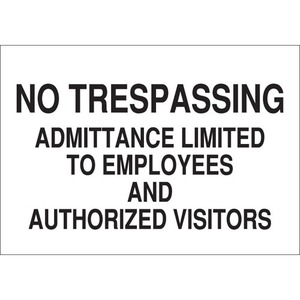 22228 ADMITTANCE SIGN