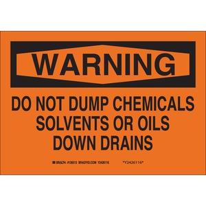 22371 CHEMICAL & HAZD MATERIALS SIGN
