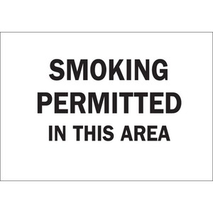 25147 SMOKING PERMITTED IN THIS AREA