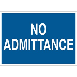 22220 ADMITTANCE SIGN