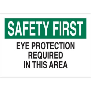 25578 EYE PROTECTION SIGN