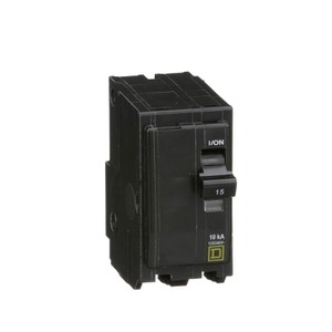 QO215 BREAKER 2P 15A PLUG ON