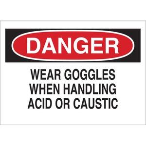 22351 CHEMICAL & HAZD MATERIALS SIGN