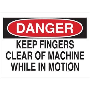 22989 MACHINE & OPERATIONAL SIGN
