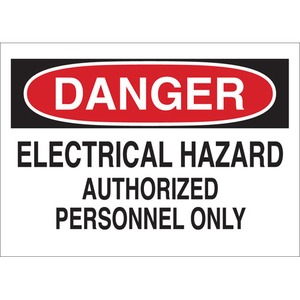 22092 ELECTRICAL HAZARD SIGN