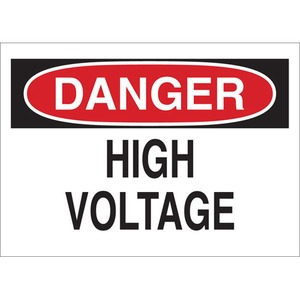 25533 ELECTRICAL HAZARD SIGN