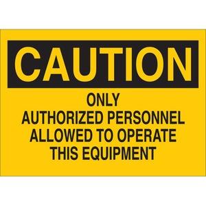 22921 MACHINE & OPERATIONAL SIGN