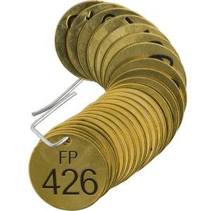 23684 STAMPED BRASS VALVE TAG