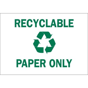 25929 RECYCLE & ENVIRONMENT SIGN