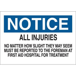 22633 FIRST AID SIGN