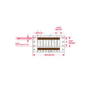 """DAT-39-292-BR 1.000 INX3.750""""  (25.40 MM"""