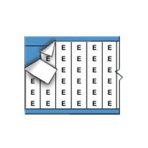 CAB-E-PK SOLID LTRS CM CARD - LEGEND: E