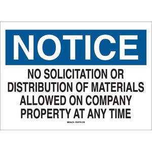 22160 ADMITTANCE SIGN