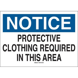 25233 PROTECTIVE WEAR SIGN