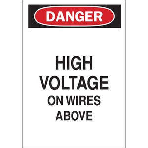25545 ELECTRICAL HAZARD SIGN